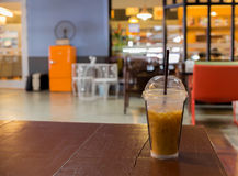 A Cup of Ice Coffee. At coffee shop Stock Photography