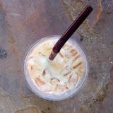 Cup of ice coffee Royalty Free Stock Images