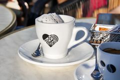 A cup of ice cream shot close up royalty free stock image