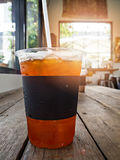 A cup of ice lemon tea Stock Photo