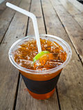 A cup of ice lemon tea Stock Image