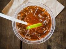 A cup of ice lemon tea Royalty Free Stock Photos