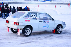 Cup in ice racing Royalty Free Stock Image
