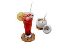 Cup of ice tea. With  sugar Stock Images