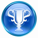 Cup icon blue Stock Photography