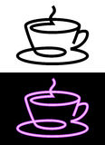 Cup icon in contour Stock Image