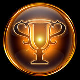 Cup icon golden. Royalty Free Stock Photos