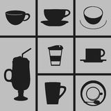 Cup Icons. Set of Icons on a theme cups Stock Photos