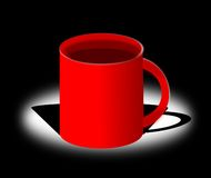 Cup illustration. Vector illustration of a red cup Stock Images