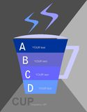 Cup info graphics Royalty Free Stock Photos