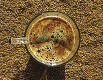A cup of instant coffee Royalty Free Stock Photo