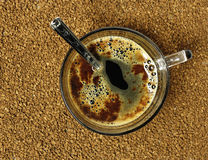 A cup of instant coffee Stock Image