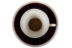 A cup of instant coffee isolated Royalty Free Stock Photo