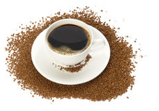 Cup of instant coffee Royalty Free Stock Photography