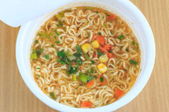 A cup of instant noodle Stock Images