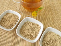 Cup of instant tea Stock Image