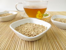 Cup of instant tea Royalty Free Stock Images