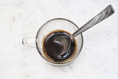 Cup of italian coffee isolated on marble Stock Photo