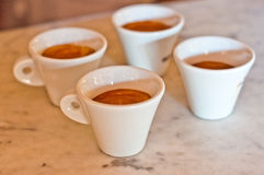 Cup of  Italian coffee Stock Images