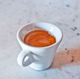 Cup of  Italian coffee. Cup of coffee in the Italian manner Stock Photography