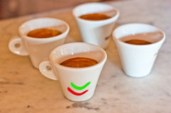 Cup of  Italian coffee. Cup of coffee in the Italian manner Stock Photos