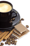 Cup of italian espresso Stock Photography