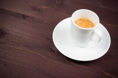 A cup of italian espresso coffee Royalty Free Stock Photos