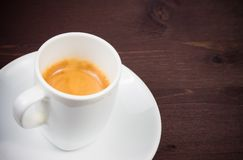 Cup of italian espresso coffee Royalty Free Stock Photo