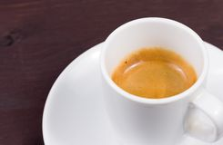 Cup of italian espresso coffee Royalty Free Stock Photography