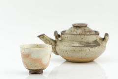 Cup of japan teapot isolated. Royalty Free Stock Photo