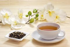 Cup of jasmine tea Royalty Free Stock Images