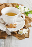 Cup of jasmine tea Royalty Free Stock Image