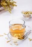 Cup of jasmine tea Stock Photos