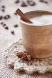 Cup kaffe fotografering för bildbyråer