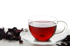 Cup of Karkadeh Red Tea Royalty Free Stock Photo
