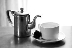 Cup and kettle Royalty Free Stock Photo