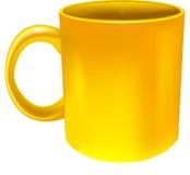 cup kolor żółty Obrazy Stock