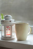 Cup and Lantern Stock Image