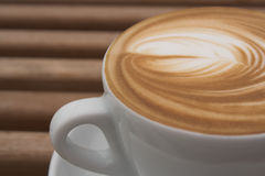 Cup of latte Stock Photos