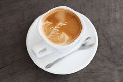 A cup of latte art Royalty Free Stock Image