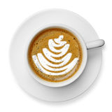 Cup of latte art coffee Royalty Free Stock Images