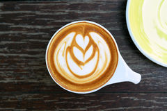 Cup of latte art coffee Royalty Free Stock Photos