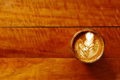 Cup of latte art coffee Stock Photo