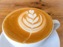 Cup of latte or cappuccino coffee Royalty Free Stock Photo