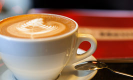 Cup of latte or cappuccino or mocha coffee Stock Images