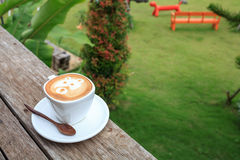 Cup of latte coffee Royalty Free Stock Images
