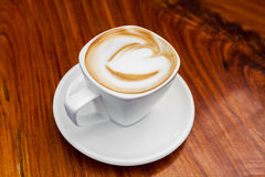 Cup of latte coffee Royalty Free Stock Photography