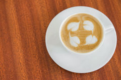 A Cup of latte coffee Royalty Free Stock Photos