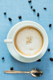 Cup of latte coffee Stock Image