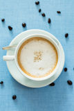 Cup of latte coffee Royalty Free Stock Photos